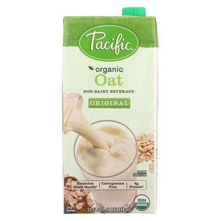 (12 pack) Pacific Natural Foods Oat Original - Organic, 32 Fl Oz. (Pacific Foods Almond Milk)