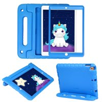 HDE iPad 7th Generation Case for Kids with Built-in Screen Protector iPad 10.2 inch 2019 Case for Kids Shock Proof Protective Heavy Duty Cover with Handle Stand for 2019 Apple iPad 10.2 - Blue