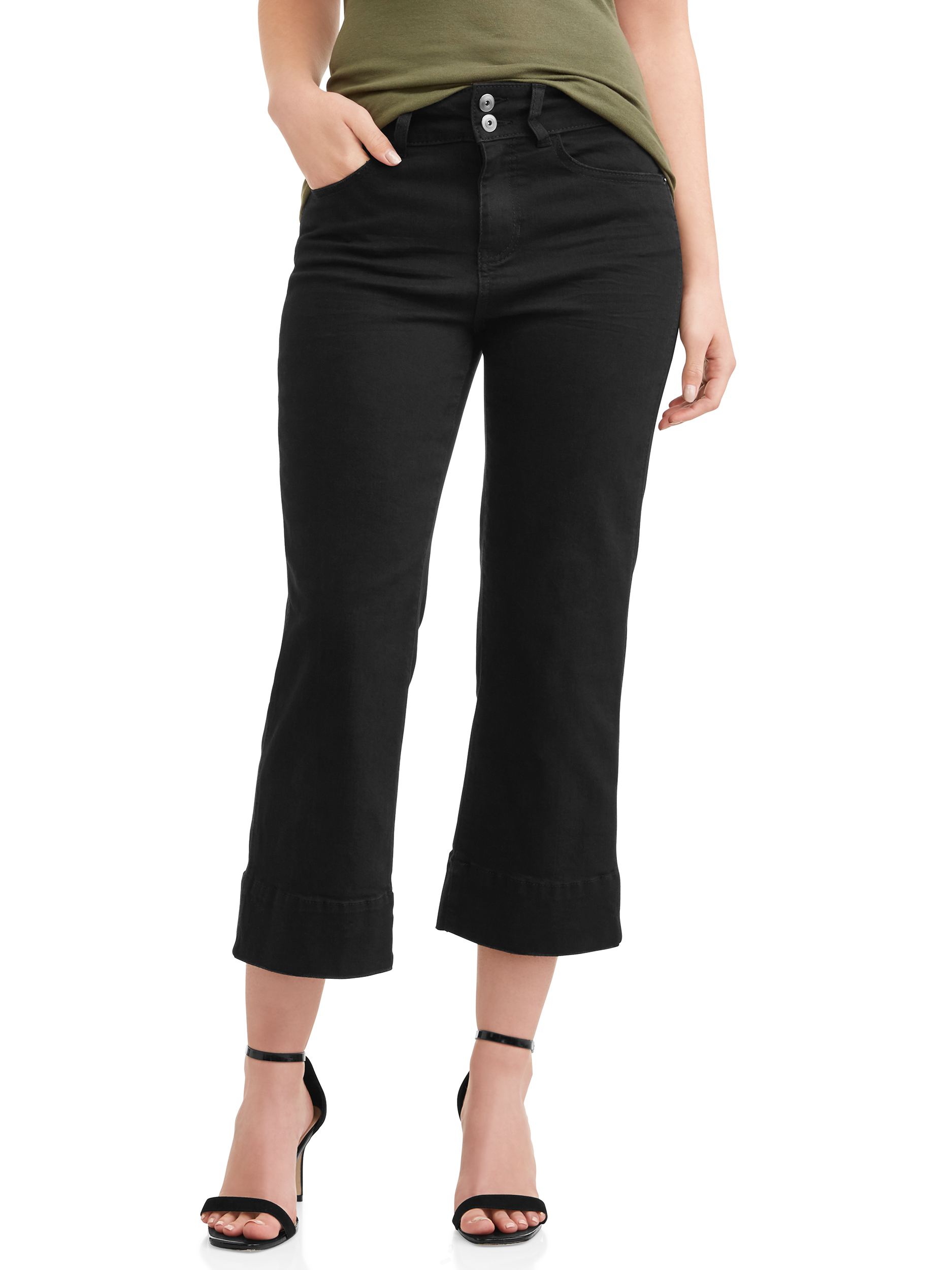 a2276effcd55 Time and Tru - Women's Wide Leg Casual Pant - Walmart.com