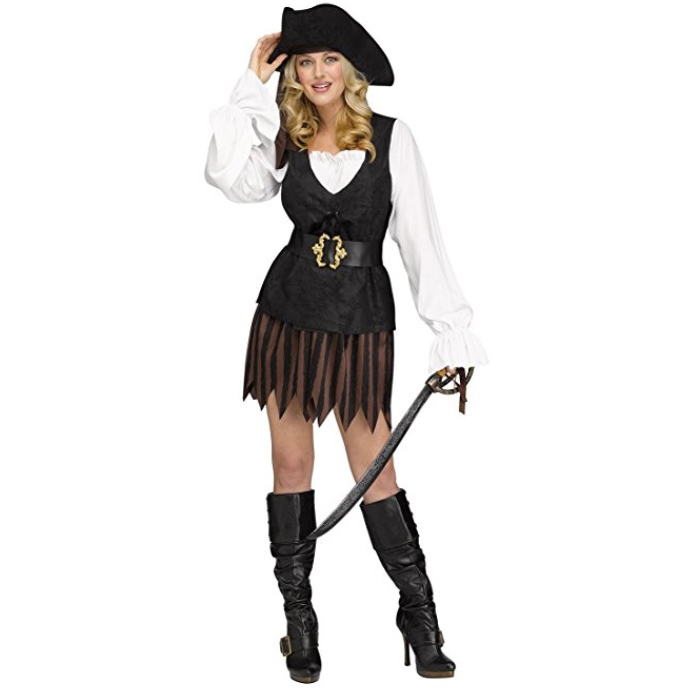 Rustic Pirate Maiden Adult Female Womens Costume Dress Plus Size NEW