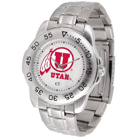 Utah Utes Competitor Steel Watch - Utah Sport Men's Steel Band Watch