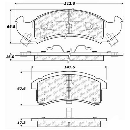 Go-Parts OE Replacement for 1994-1996 Cadillac Eldorado Front Disc Brake Pad Set for Cadillac (A2z Disc Brake)