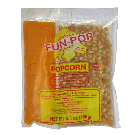 Gold Medal Fun Pop Popcorn Kit  4 Oz  Bag  36 Pk      Popcorn Kernels   Flavorings  Movie Theater Popcorn In Your Own Home Every Time