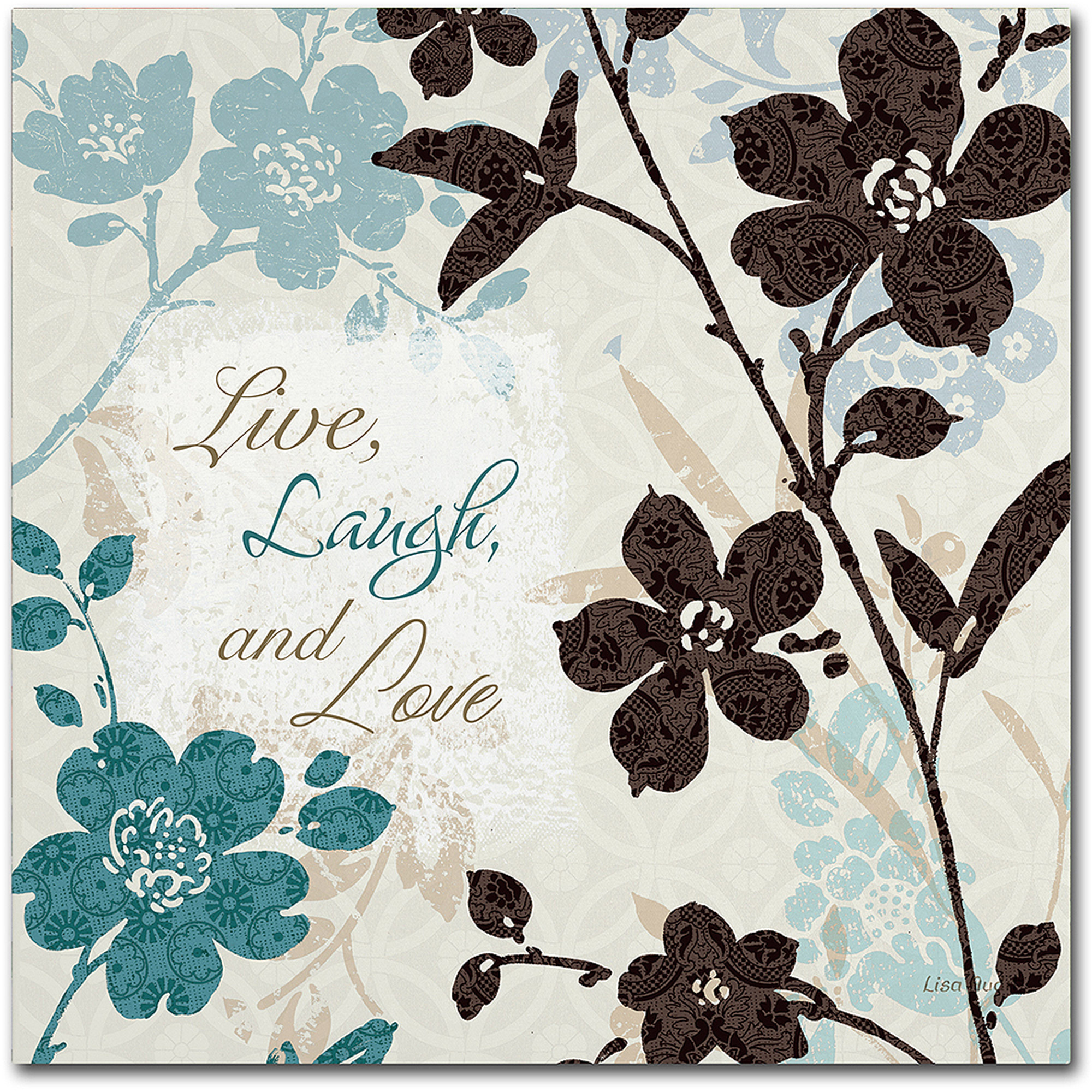 "Trademark Fine Art ""Botanical touch Quote II"" Canvas Art by Lisa Audit"