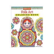 Design Originals Folk Art Coloring Bk