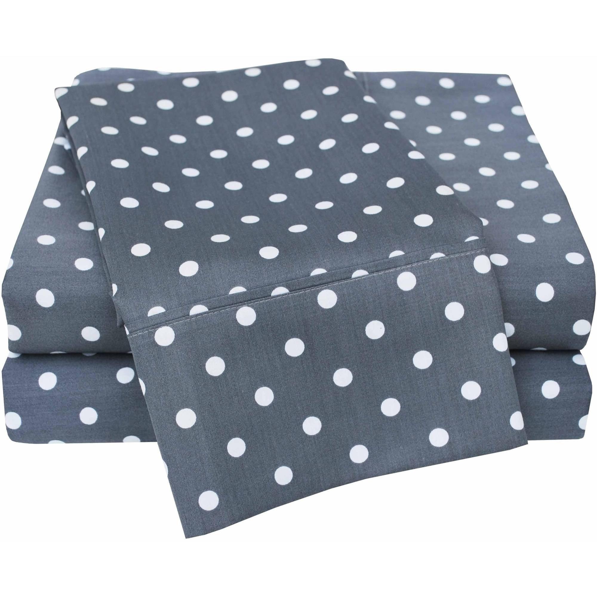 superior 600 thread count luxury cotton polka dots design sheet set walmartcom
