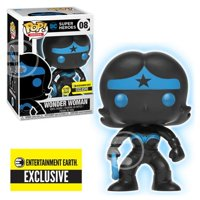 Funko Pop! DC Justice League: Wonder Woman Silhouette [GITD] #08 [Entertainment Earth]