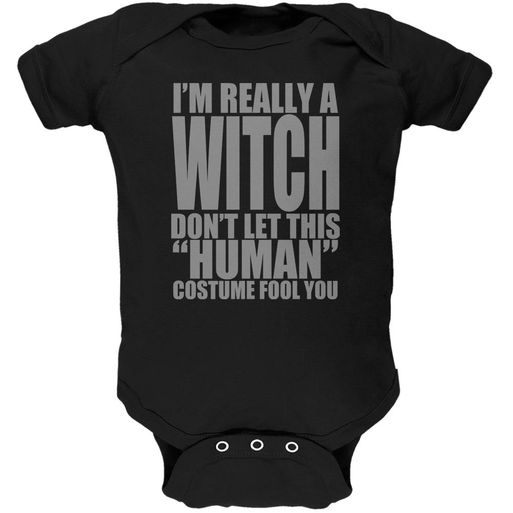 Halloween Human Witch Costume Soft Baby One Piece