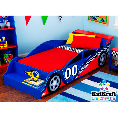 KidKraft - Racecar Toddler Bed