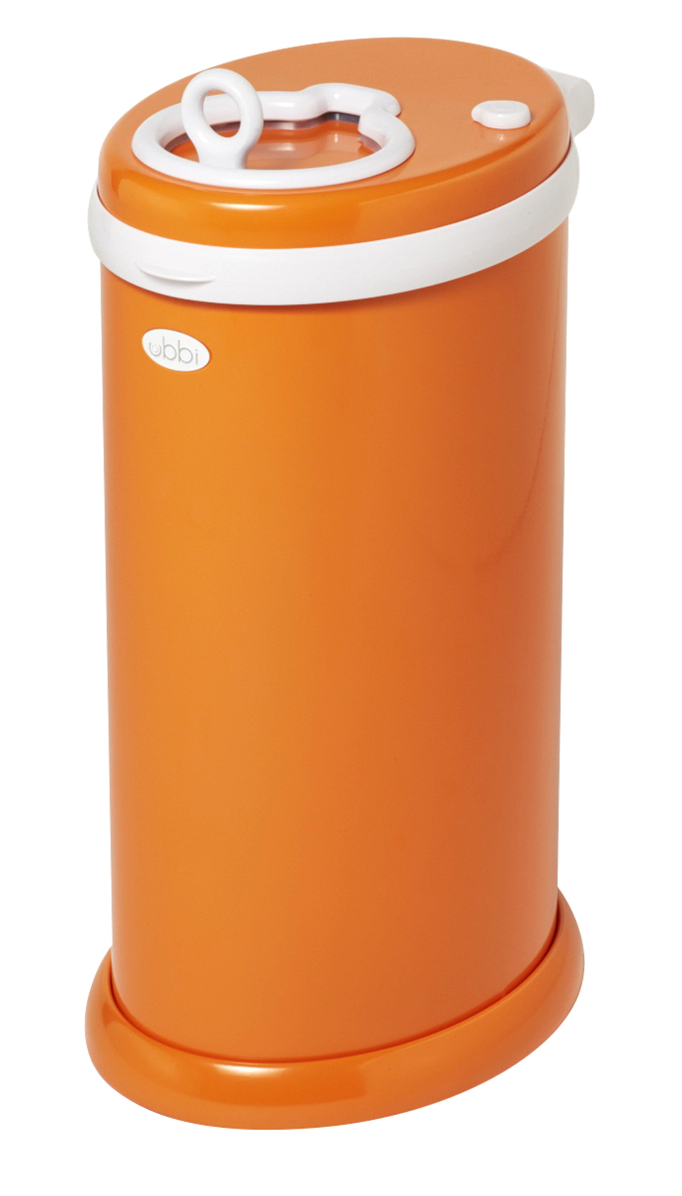 Ubbi Steel Diaper Pail, Orange by Ubbi