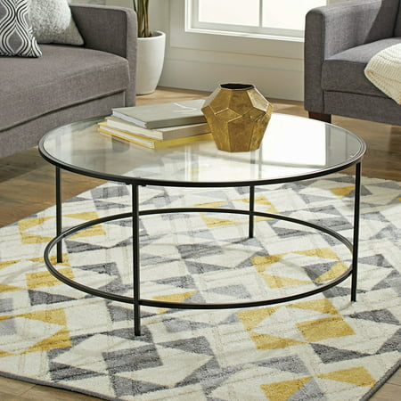 Glass Metallic Coffee Table (Better Homes & Gardens Nola Coffee Table, Black)