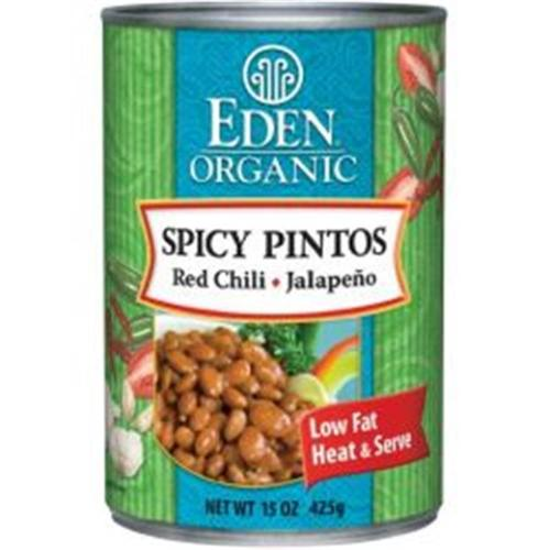 Spicy Pinto Beans Organic - Bpa Free Lined Can (Pack of 12)