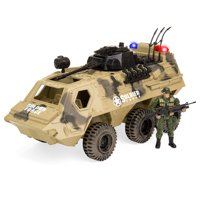 Best Choice Products Kids Military Fighter Tank Artillery Truck Toy Play Set w/ Army Soldier, Lights, Battle Sounds