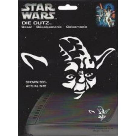 Star Wars Yoda White Die Cut Vinyl Decal