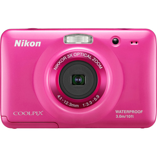 "Nikon CoolPix S30 Pink 10.1MP Digital Camera w/ 3x Optical Zoom, 2.7"" LCD Display, Waterproof"