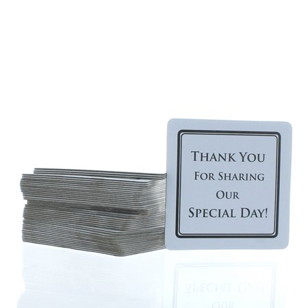 100 Wedding Thank You  Special Day Decoration White Paper Coasters](Wedding Coasters)