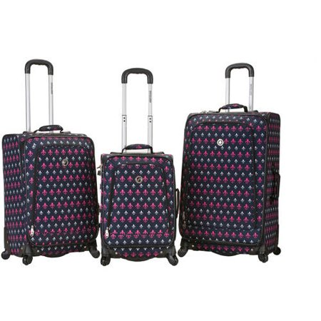 Rockland Luggage Fusion 3-Piece Expandable Spinner Luggage Set