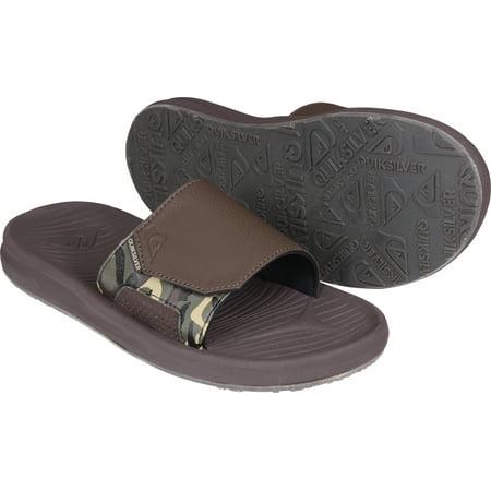 Quiksilver Mens Travel Oasis Slide Sandals - Brown ()