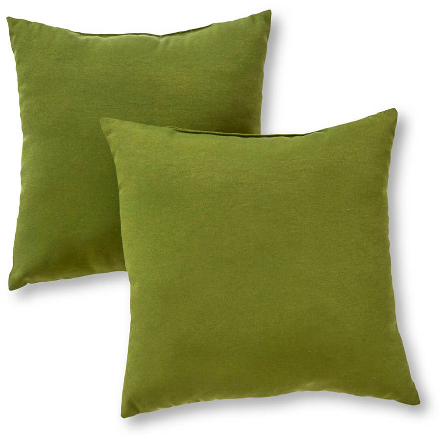 Greendale Home Fashions Outdoor Accent Pillows, Set of 2, Summerside Green