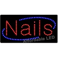 Affordable LED L7155 12 H x 24 L in. Nails LED Sign