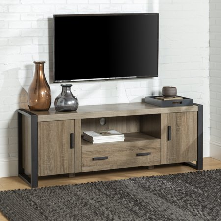 Walker Edison Metal and Wood TV Stand for TV's up to 66