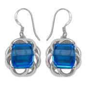 JEWELRYAUCTIONSTV 14.50ct TW Genuine Swiss Blue Topaz Sterling Silver Earrings