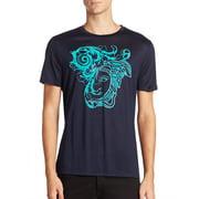 Versace Collection Flocked Medusa Head Graphic Men's Short-Sleeve T-Shirt
