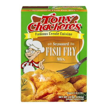 Tony chachere 39 s seasoned fish fry mix 10 0 oz for Fish fry mix