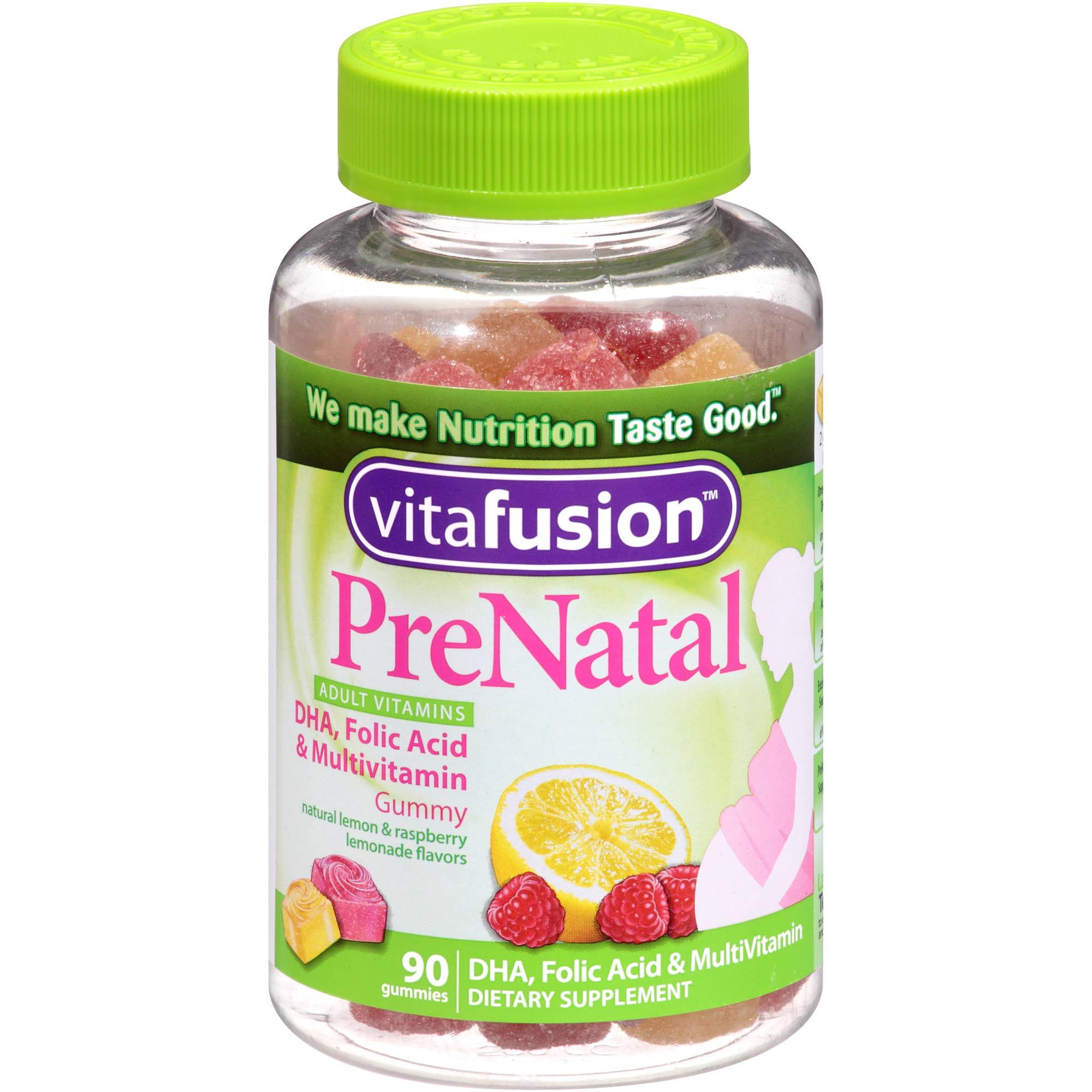 VitaFusion Prenatal Gummy Vitamins, 90ct