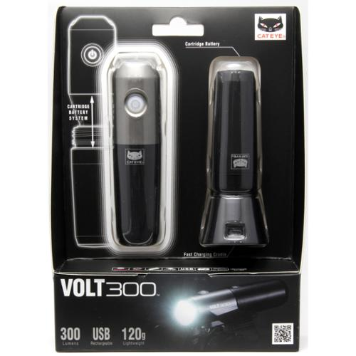 CatEye Volt300 Bicycle Head Light Kit - w/Spare Battery/Charging Cradle - HL-EL460RC Kit - 5342750