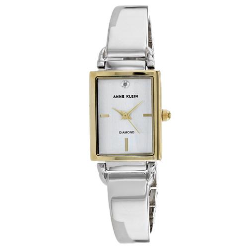 Anne Klein Women's Classic White Dial Stainless Steel Watch AK-2495SVTT
