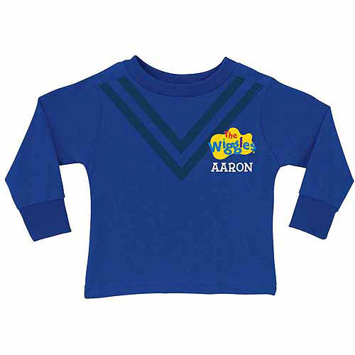 Personalized The Wiggles Uniform Toddler Boy Royal Blue Long Sleeve Tee