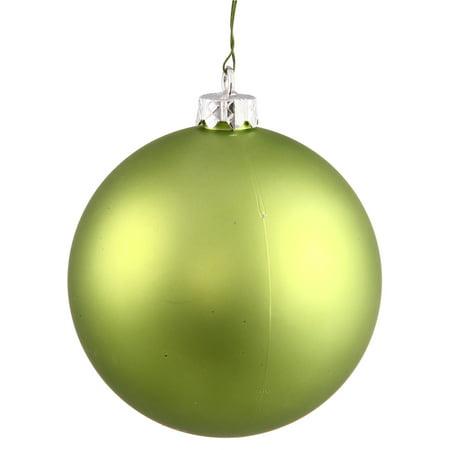 Matte Lime Green UV Resistant Commercial Shatterproof Christmas Ball Ornament 4
