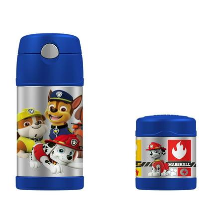 PAW Patrol Thermos FUNtainer 10oz Food Jar and Insulated 12oz Straw Bottle Set Boy or Girl - Boys Food