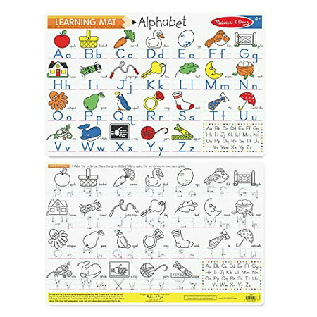 Melissa & Doug Alphabet Write-A-Mat Puzzle (6 Pieces)