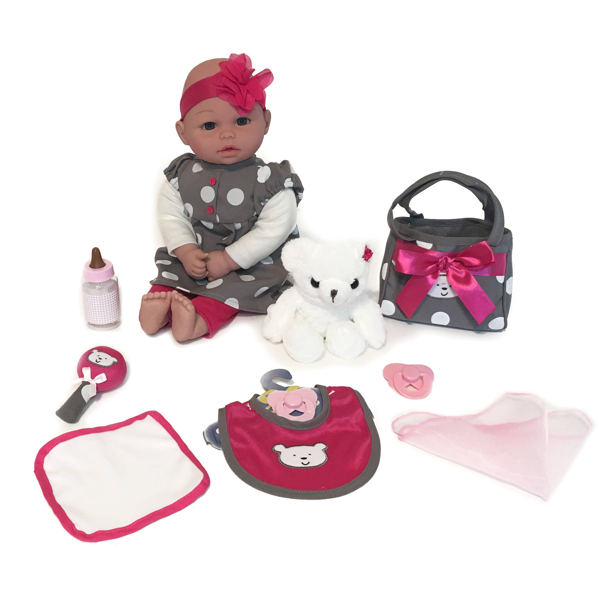 "My Sweet Love 18"" Baby Doll Gift Set with Bear"