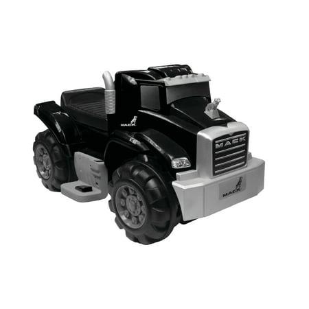 6V Best Ride On Mack Truck in Black, Battery Powered Wheels Wonderlanes Toys for