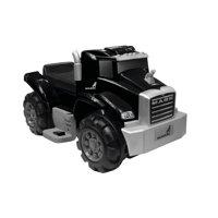 6V Best Ride On Mack Truck in Black, Battery Powered Wheels Wonderlanes Toys for Kids