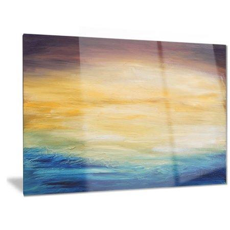 DESIGN ART Designart 'Abstract Water Sunset' Abstract Metal Wall (Sunset Water)