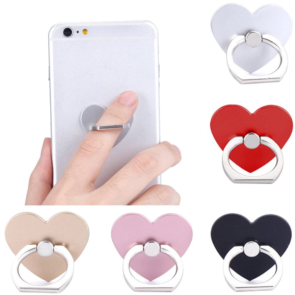 Moderna cell phone stand 360º Rotatable Heart Shape Finger Ring Grip Mobile Phone Stand Holder