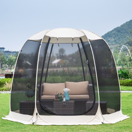 Screen House Room Camping 10x10 Blue Instant Canopy