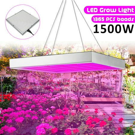 Full Spectrum LED Grow Lights, 1500W Plant Grow Lamp with Chain for Greenhouse Hydroponic Indoor Plants Seeding Growing and Flowering Sunmaster Grow Lamps