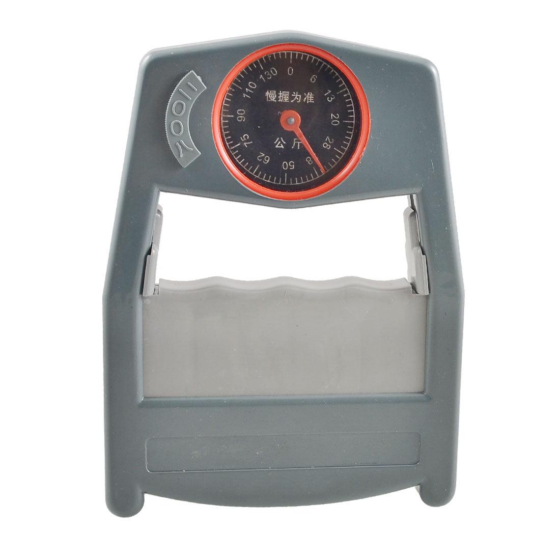 Plastic Gray Handle Handgrip Strength Dynamometer 0-130Kg Measurement