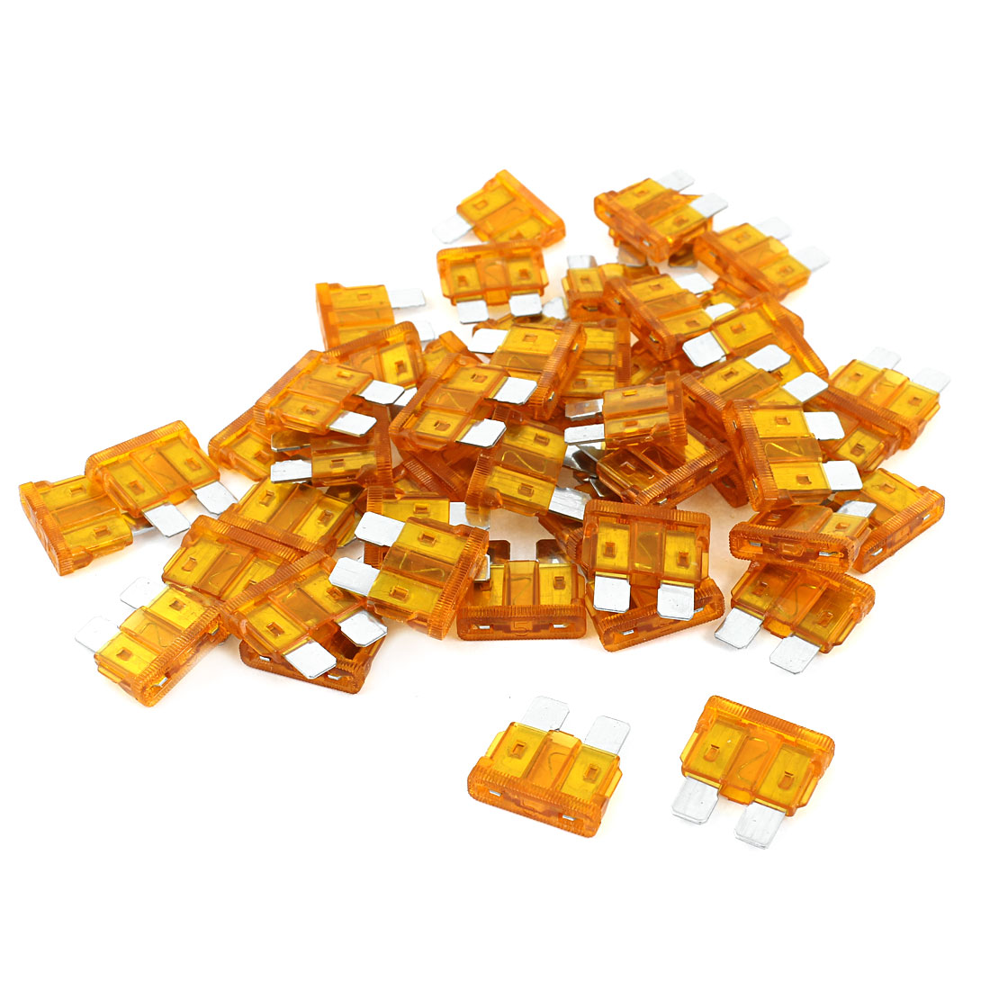 50 Pcs Car Truck Automotive Fast Acting  Fuse Orange 5A