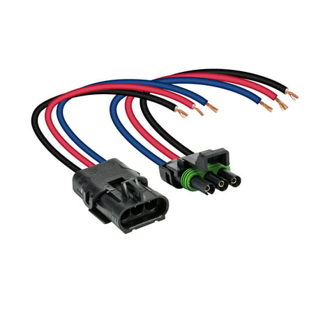 3-Wire Weather Pack Connector Kit Assembled with 10