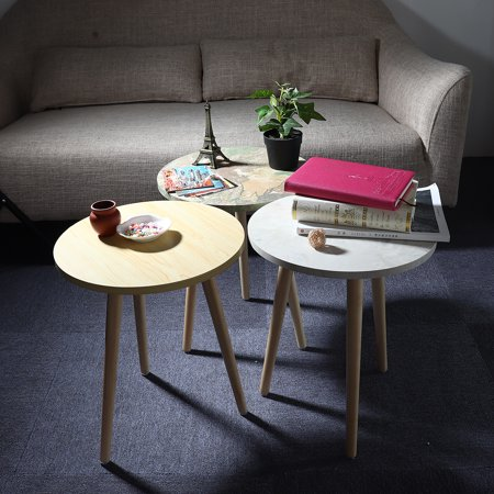 Moaere Hot Nesting Coffee End Tables Modern Furniture Decor Round