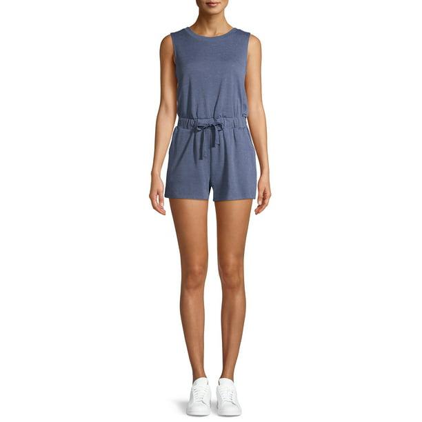 Como Blu Women's Athleisure Sleeveless Romper with Pockets