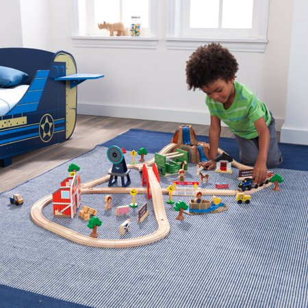 Valve Train Package - KidKraft Farm Train Set with 75 accessories included