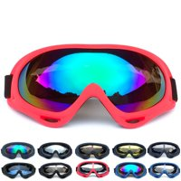 MarinaVida Women Men PC UV 400 Protective Lens Windproof Dust-proof Adjustable Skiing Goggles