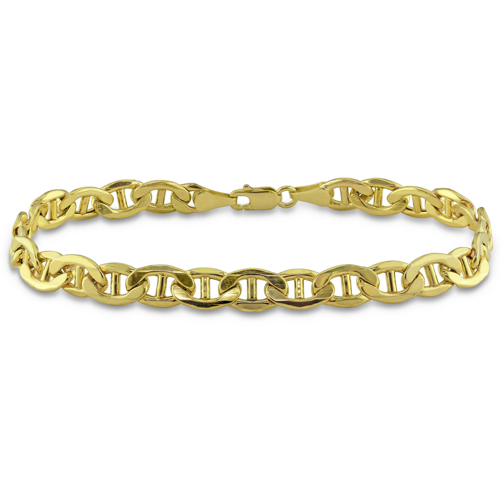 "Asteria Men's 10kt Yellow Gold Mariner Bracelet, 9"" by Delmar Manufacturing LLC"